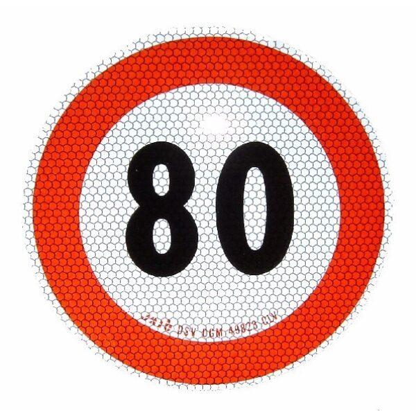 sticker 80km Italie max. snelheid Ø20cm-0