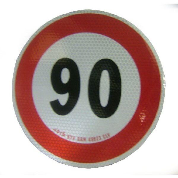 sticker 90km max. snelheid Ø20cm-0