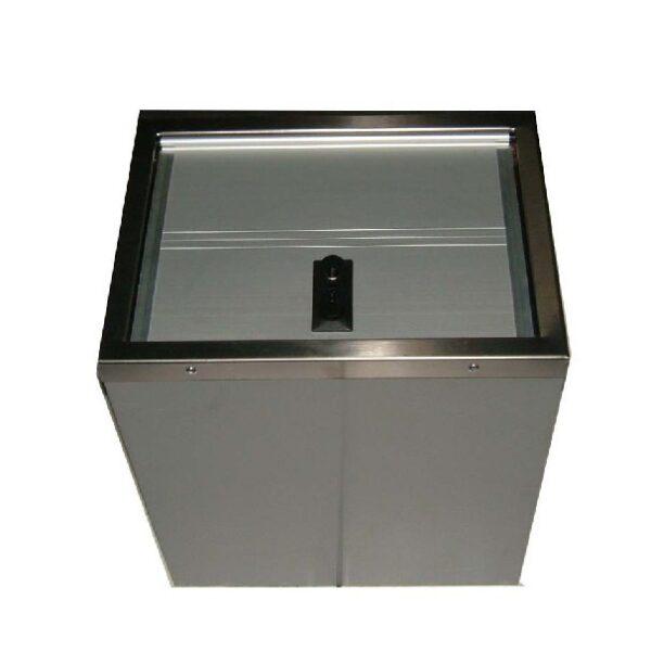 kist aluminium deur/gegalv. huis 400x450x300-0
