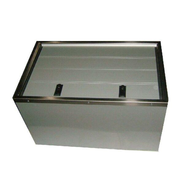 kist aluminium deur/gegalv. huis 800x500x470-0