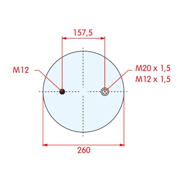 luchtbalg BPW type 30 zonder onderpot-7757