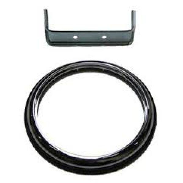 chrome ring voor achterlicht Ø140mm-0