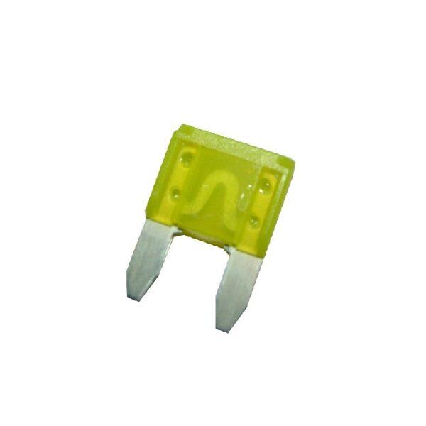 steekzekering mini 20A geel / prijs/verpakt per 50 stuks-0