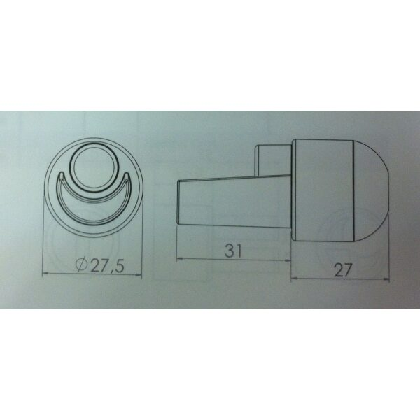 adapter boven t.b.v. 27mm buis-6584