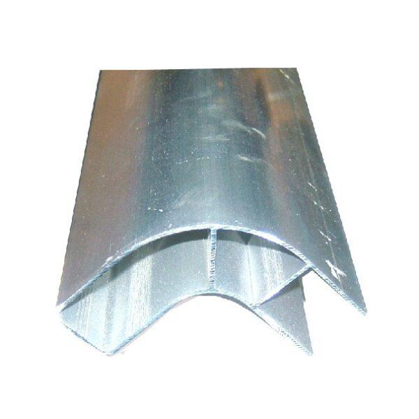 zijdelingse bescherming hoekprofiel alum. 0.5mtr fietsenvanger-0