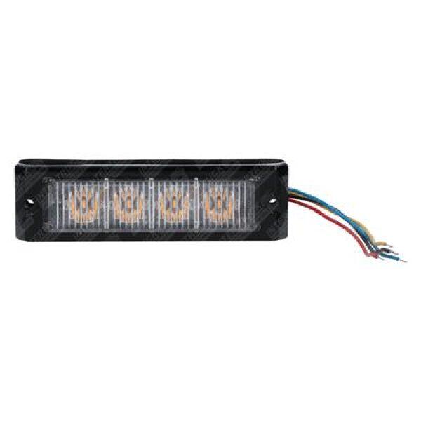 led flitslamp 4 leds 12/24V oranje E4-0