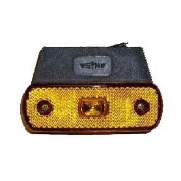 led zijmarkeringslamp haaks oranje SIM 12/24V-0