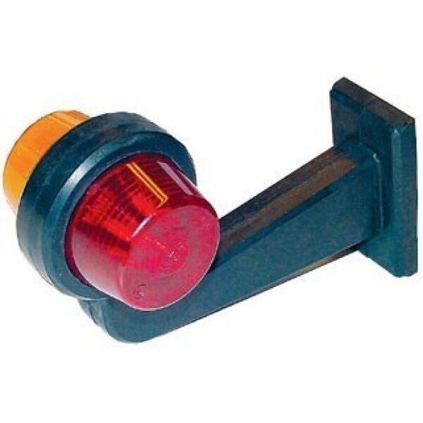 Gylle led breedtelamp 24V haaks oranje/rood-0