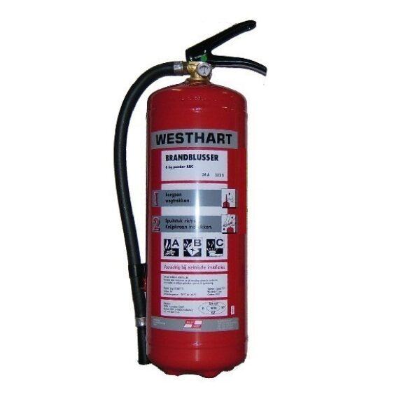 brandblusser 6kg ABC-0