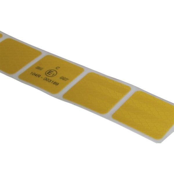 reflectie tape 3M blokjes 5x5cm geel 50m-8085