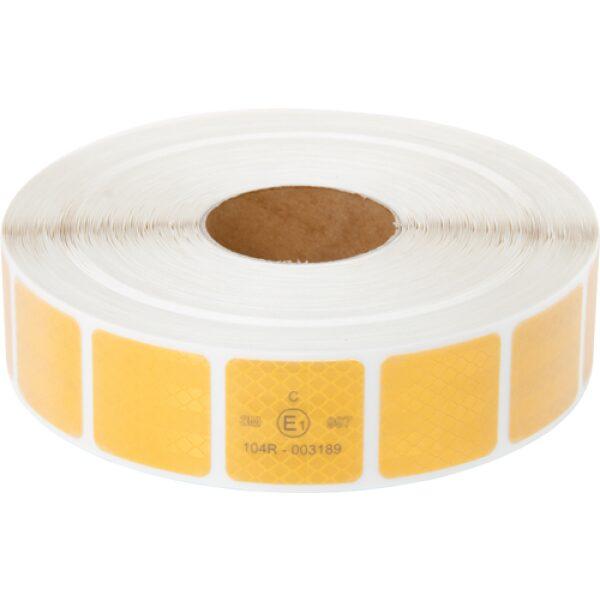 reflectie tape 3M blokjes 5x5cm geel 50m-0