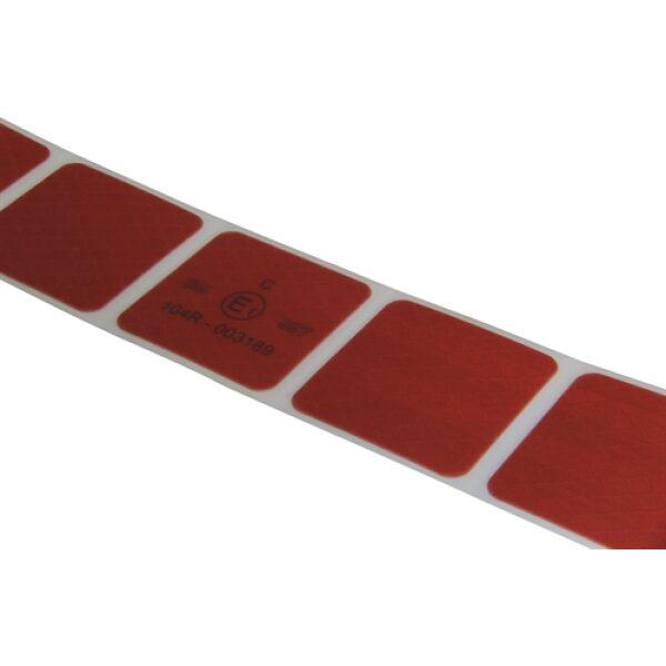 reflectie tape 3M blokjes 5x5cm rood 50m-8087