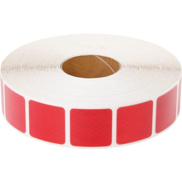 reflectie tape 3M blokjes 5x5cm rood 50m-0