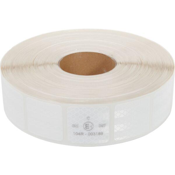 reflectie tape 3M blokjes 5x5cm wit 50m-0