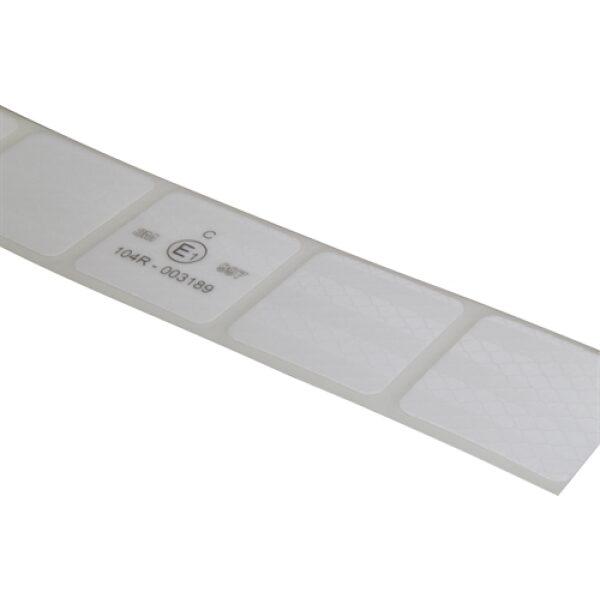 reflectie tape 3M blokjes 5x5cm wit 50m-8066