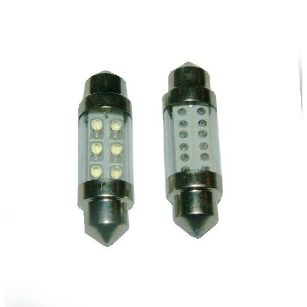 led lamp buislamp wit lang 10/32V 4 leds lengte: 36mm -0