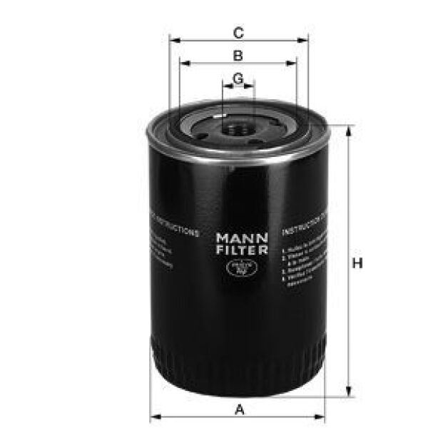 oliefilter W929/3-0