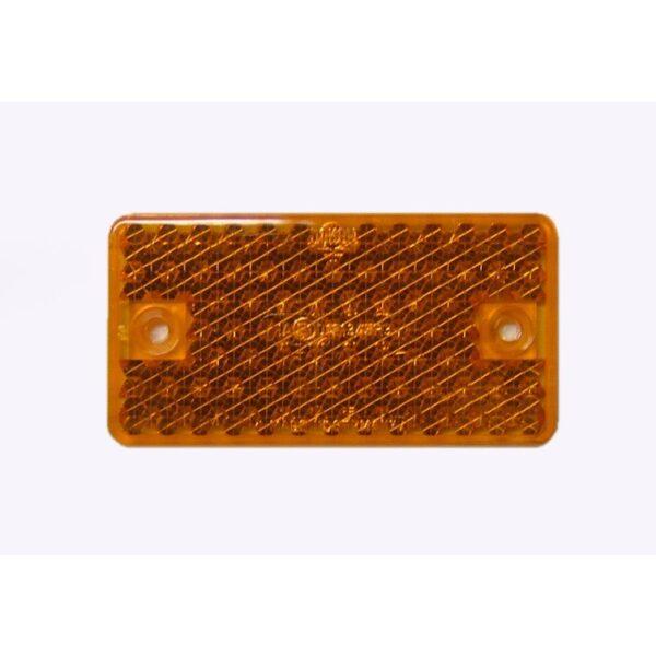 reflector plak/schroef oranje-0