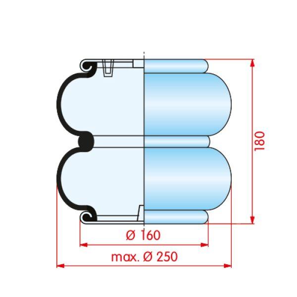 luchtbalg 2-kamer montagegaten haaks op elkaar-7831