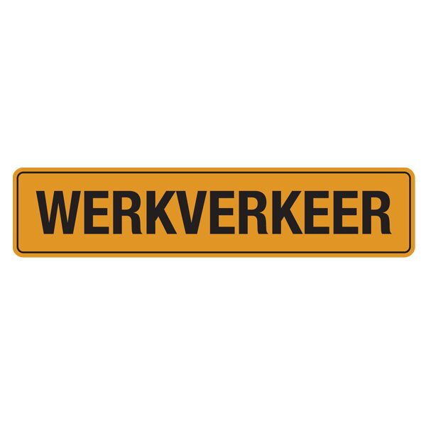 bordje werkverkeer sticker 400x110mm-0