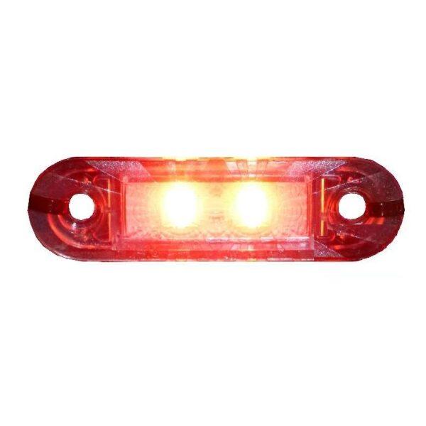 led toplamp rood inbouw 12/30V 2 leds-0