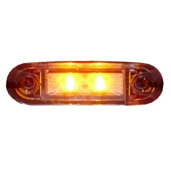 led zijmarkeringslamp inbouw 12/30V 2 leds amber/oranje-0