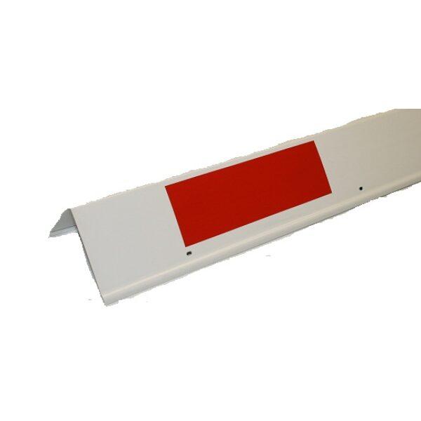 hoekstuk kunststof rood/wit -0