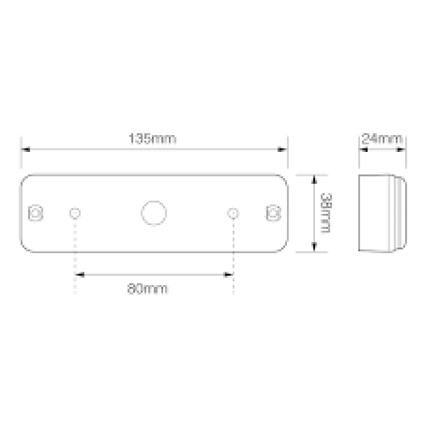 achterlicht led Slim-line combinatielamp 135mm 12-24V-7327