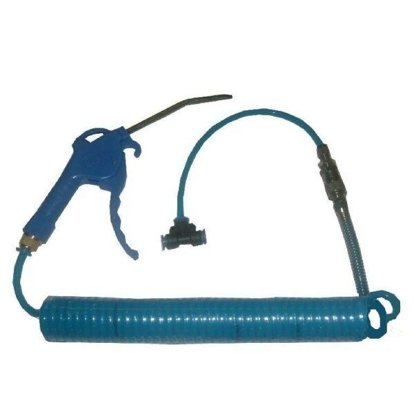 luchtpistool set blauw + t-stuk snelkoppeling 4m-0