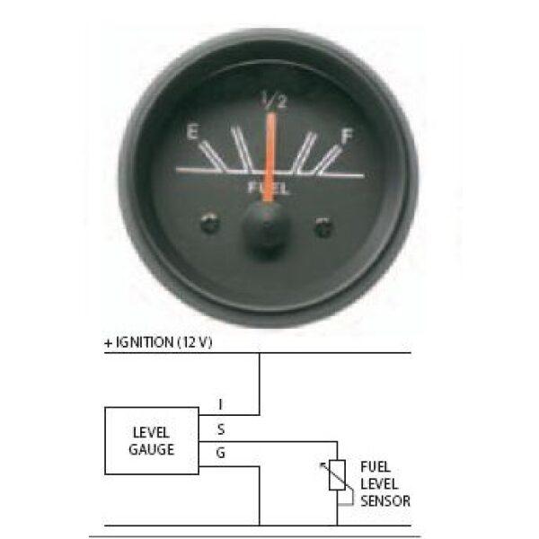 universele tankmeter vlotter set 12V-0
