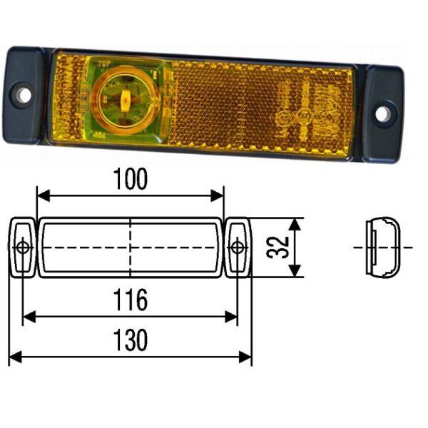 led zijmarkeringslamp Hella oranje superseal-0