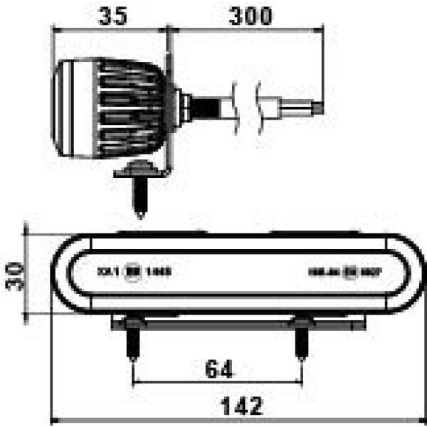 led flitser Truck-lite 10/30V-6650