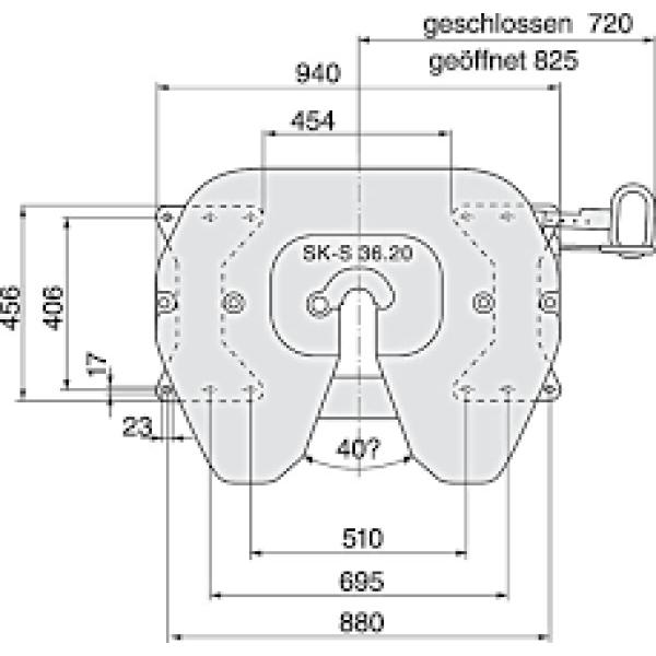 koppelingsschotel GF+ George Fischer hoogte 190mm SK-S3620-6513