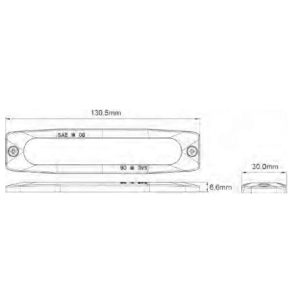 led flitslamp 10-30V IP67 EMC oranje-6634