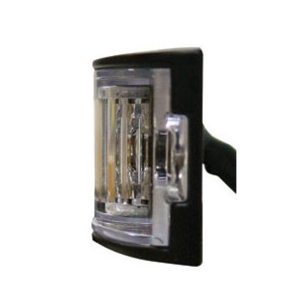 led flitslamp Peterson 6 leds 12-24V R65 EMC oranje 180°-6636