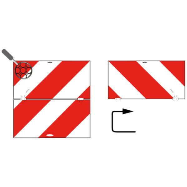 breedtebord klapbaar rechts Belgie 423x423.2mm-8257
