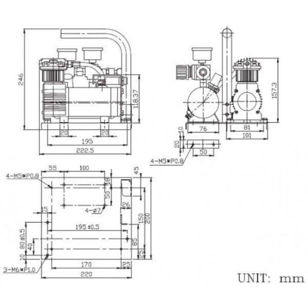 lucht compressor 12V-7202