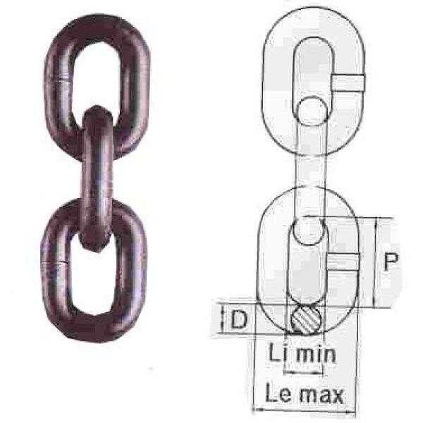 Sjorketting 13mm Grade 80 EN12195-3 per meter-0
