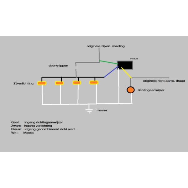 knipperlicht zijverlichting module 12/24V-7467