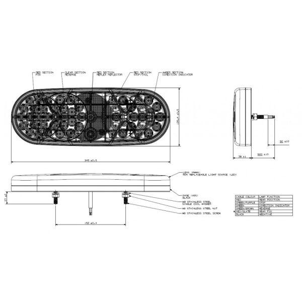 achterlicht led 10-30V Britax -7348