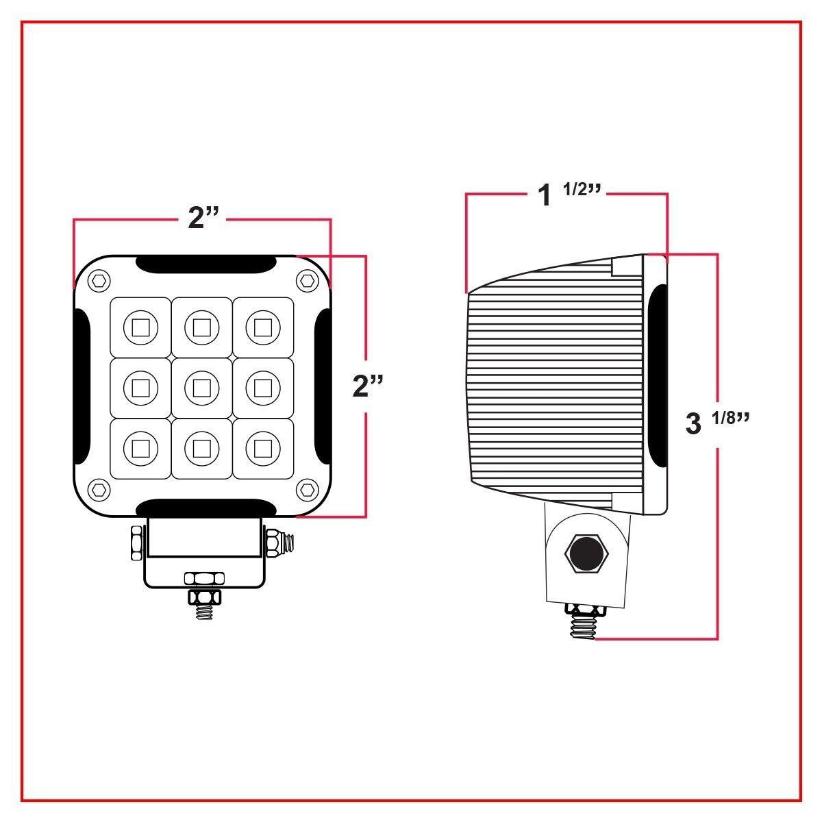 """werklamp led mini 2"""" Trux 1500Lumen 12/24V-7559"""