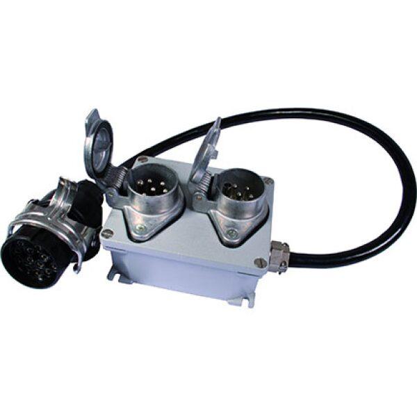 adapterkabel 15plg/2x7plg in opbouwdoos-0